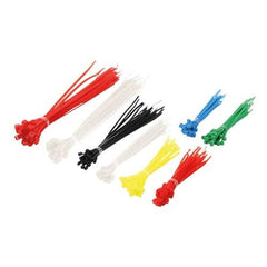 Cable tie pack - 3 lengths & 6 clours (200 pcs)