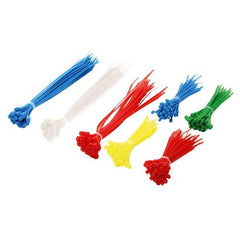 Cable tie pack - 2 lengths & 5 clours (300 pcs)