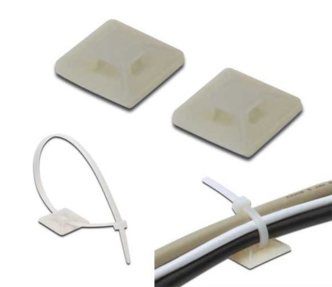 Self Adhesive Cable Tie mount - (100 pcs)