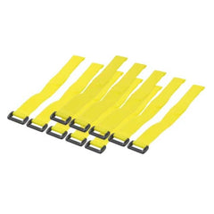 300 x 20mm Hook & Loop (velcro) Cable Ties - yellow (10 pcs)