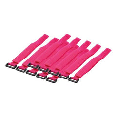 500 x 20mm Hook  & Loop (velcro) Cable Ties - pink (10 pcs)