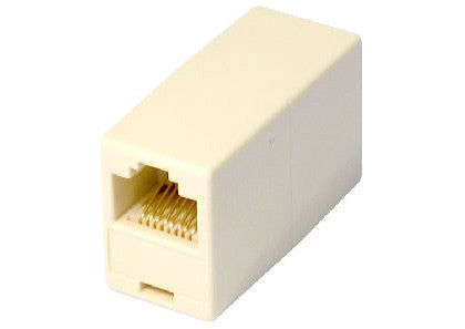 RJ45 Straight Through Coupler - Beige