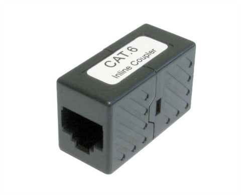 RJ45  Cat6 Straight Through Coupler - Black