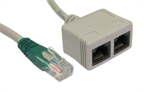 RJ45 Economiser UTP M - 2 x F - Data/Voice