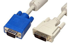 2mtr DVI-A M - HD15 VGA M Monitor Cable