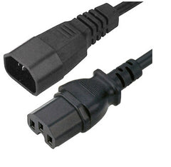 IEC extension cables C14 (male) to C15 (Female) - 2mtrs