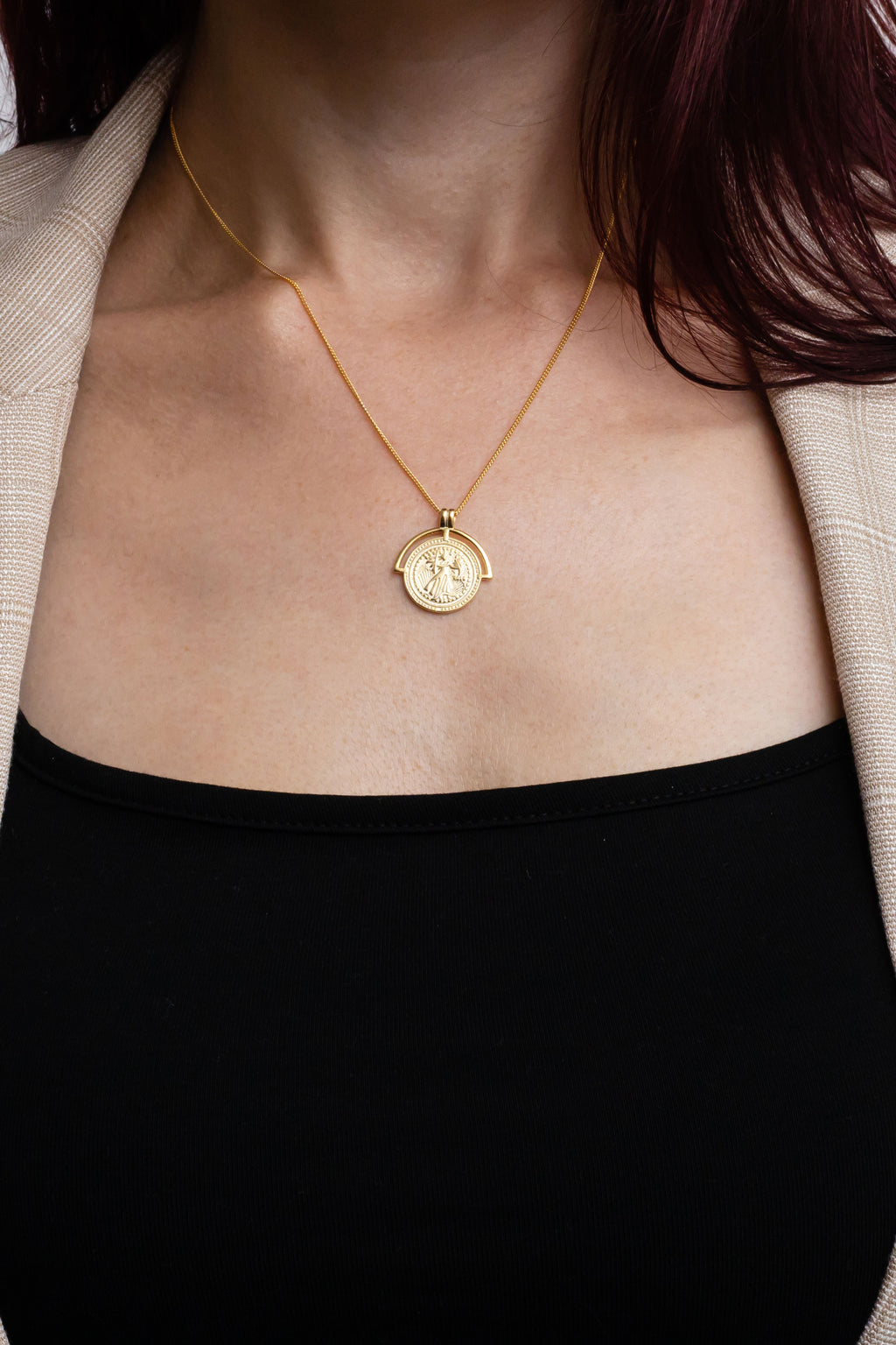 Parisian Coin Necklace, Gold