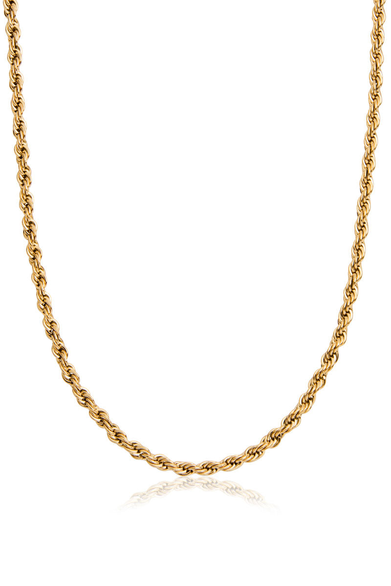 Finsbury Rope Necklace, Gold