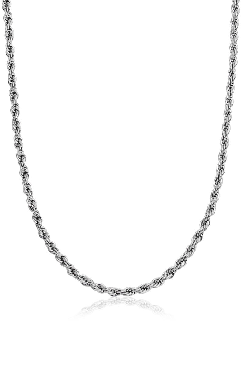 Finsbury Rope Necklace, Silver