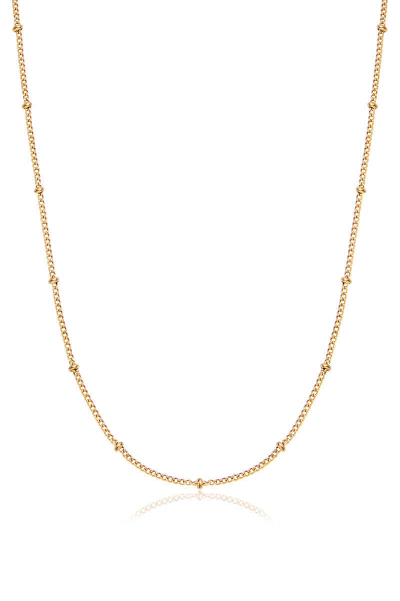 Hatton Beaded Necklace, Gold