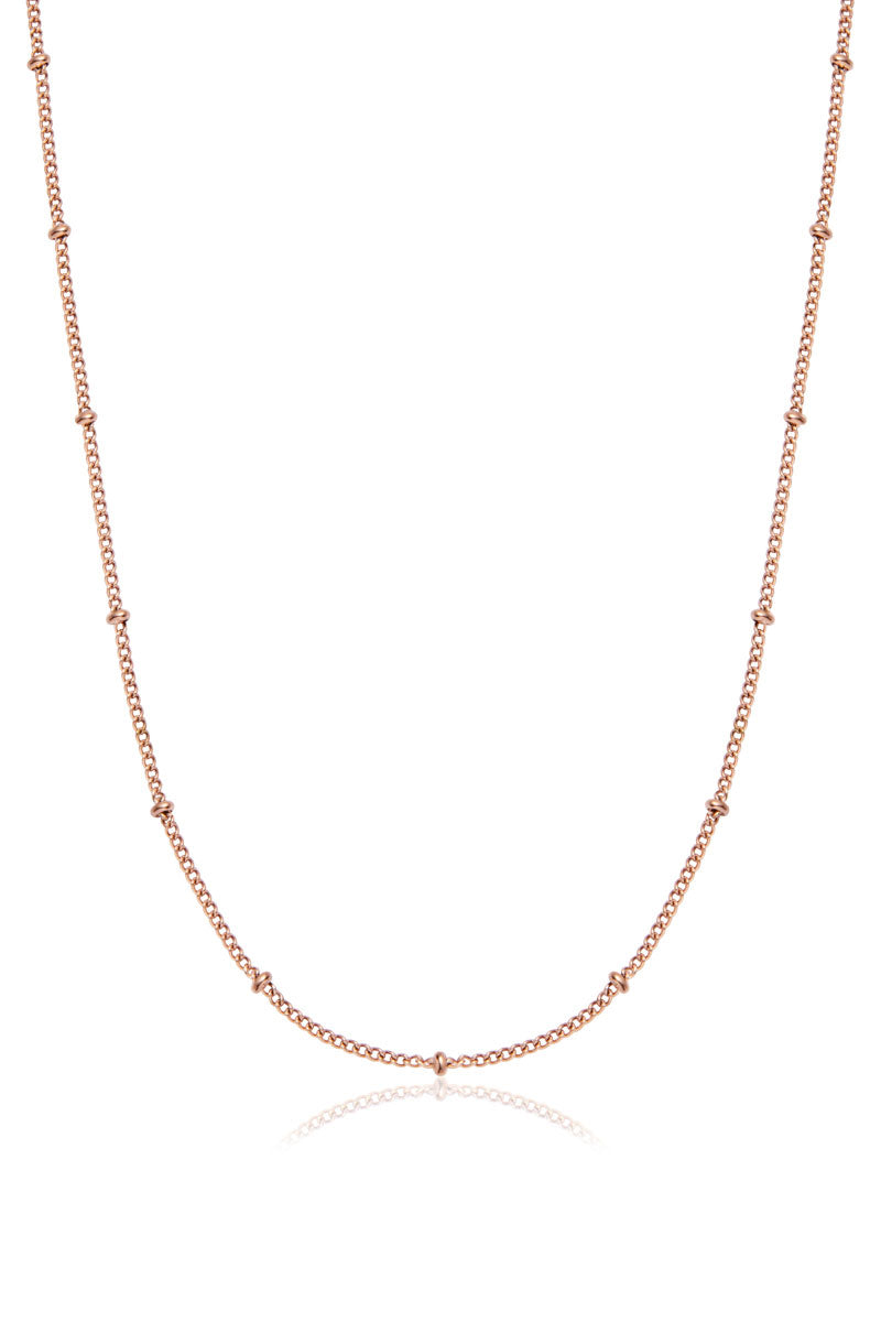 Hatton Beaded Necklace, Rose Gold
