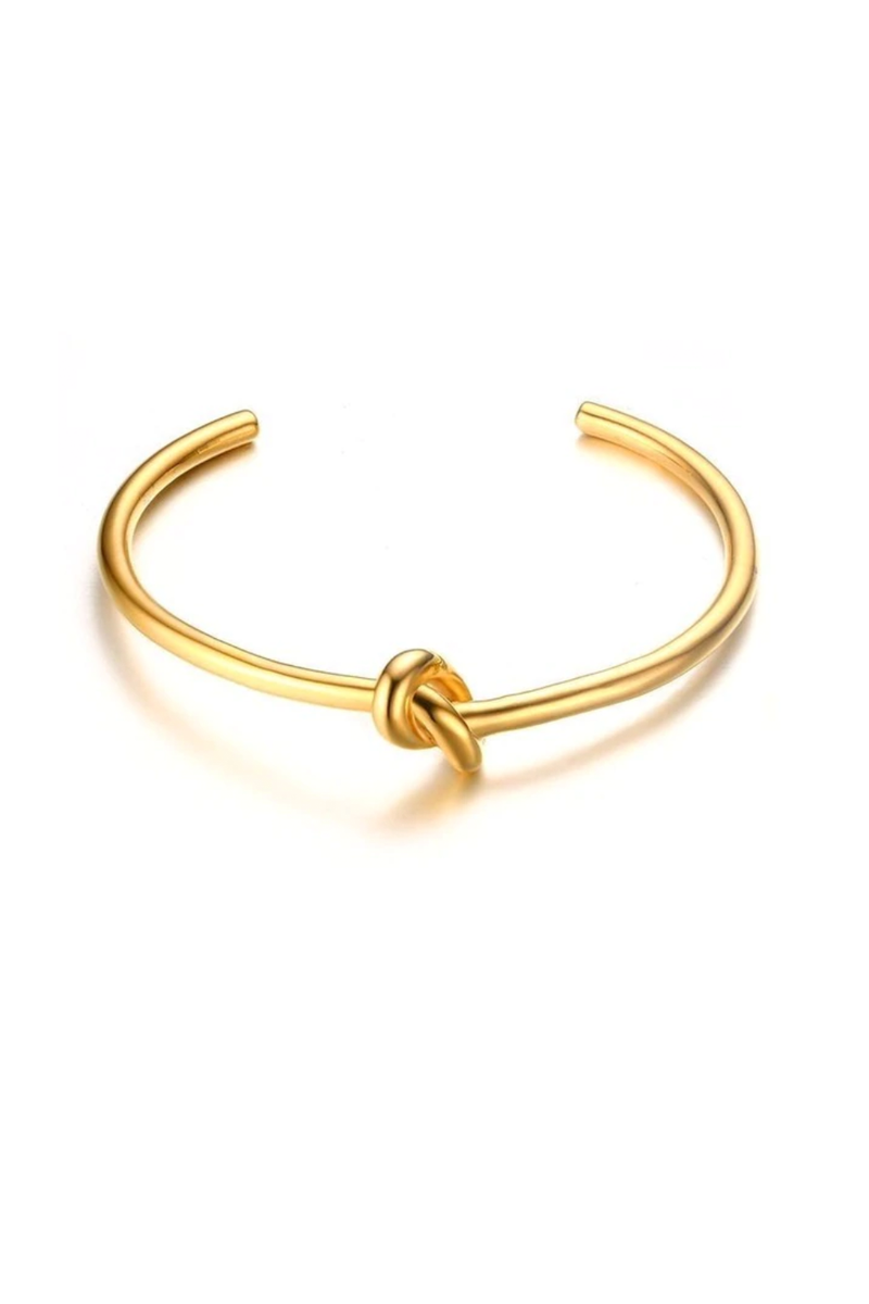 Knot Bangle, Gold