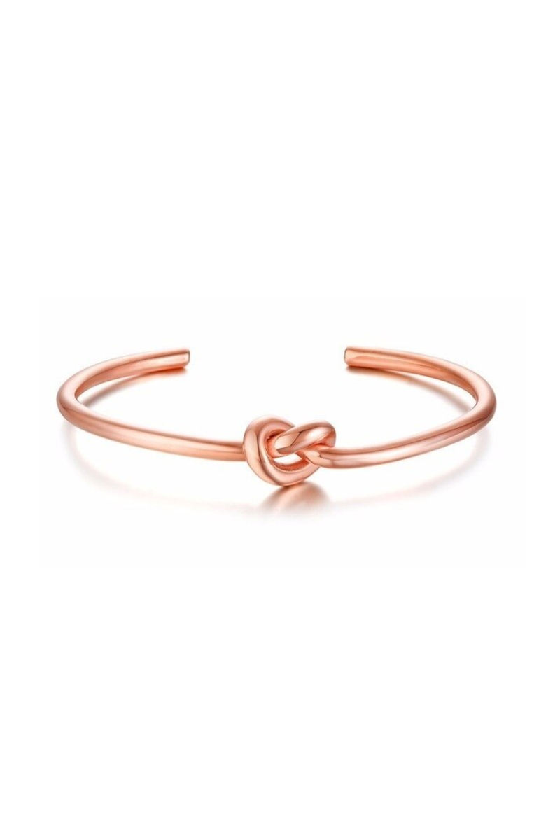 Knot Bangle, Rose Gold