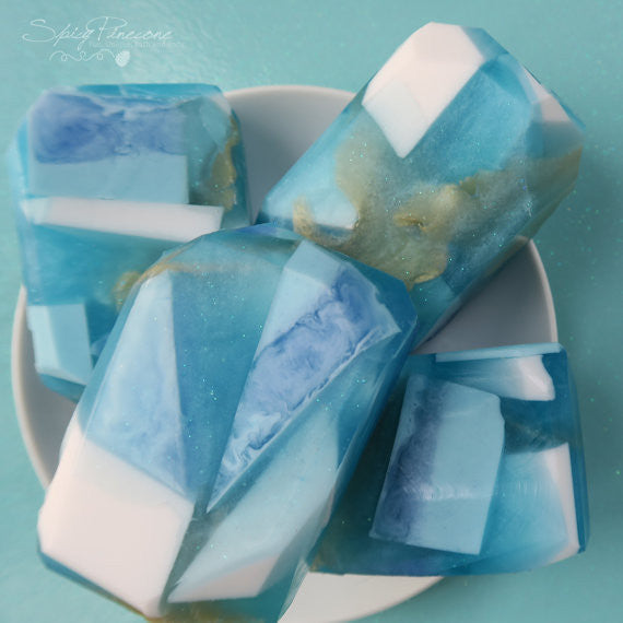 Blueberry Gemstone Glycerine Soap