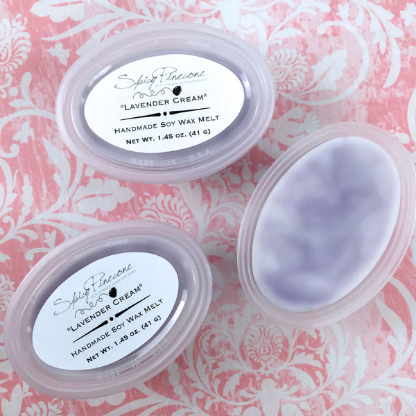 Lavender Cream - Pack of 3 Soy Wax Melts