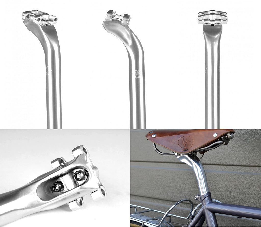 Velo Orange Grand Cru 27.2mm SILVER Alloy Seat Post with 30.2mm of set-back