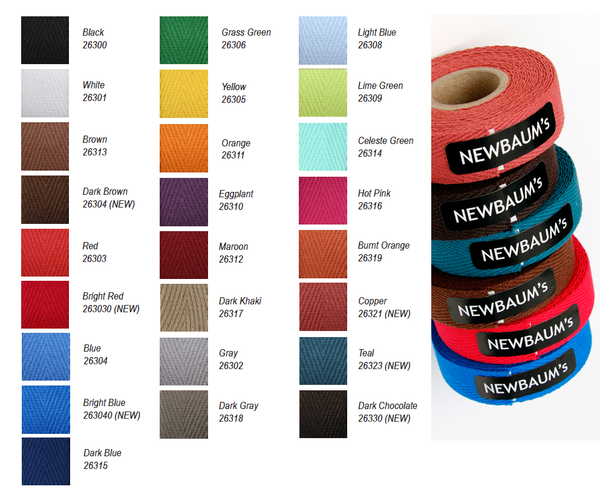 1 Reel of Newbaum's Cloth Handlebar Tape (10 feet) Various Colours