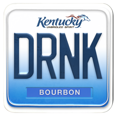DRNK BOURBON Kentucky License Plate Coasters