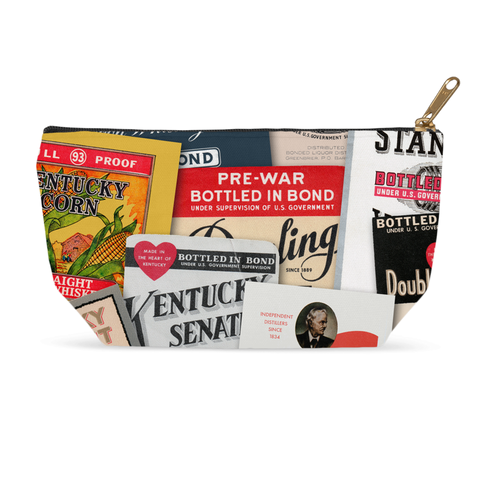 Vintage Kentucky Bourbon Labels Accessory Pouches