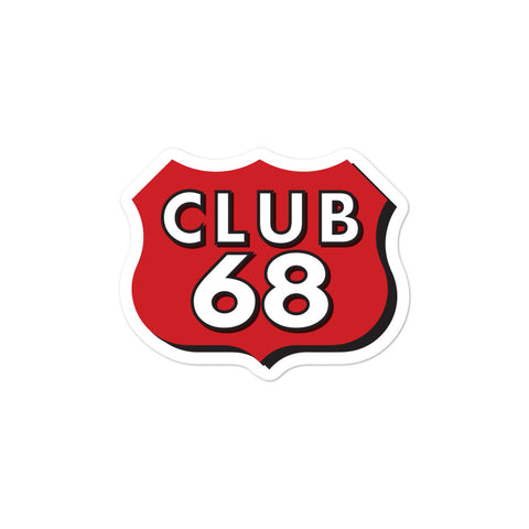 CLUB 68 Bubble-free stickers