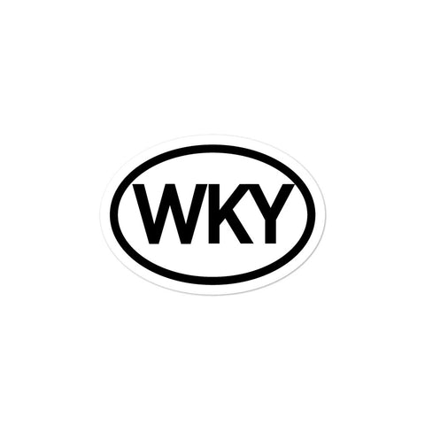 Western Kentucky WKY Oval Bubble-free stickers