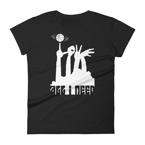 ALL I NEED IS LOVE... AND BASKETBALL! Women's short sleeve t-shirt