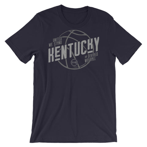 VINTAGE KENTUCKY BASKETBALL UNITED WE STAND DIVIDED WE BALL Short-Sleeve Unisex T-Shirt