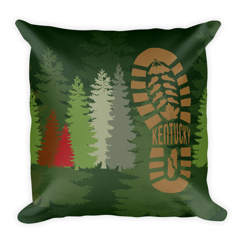 KENTUCKY TRAIL HIKE Square Pillow