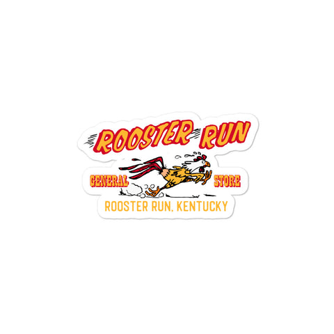 Rooster Run Bubble-free stickers