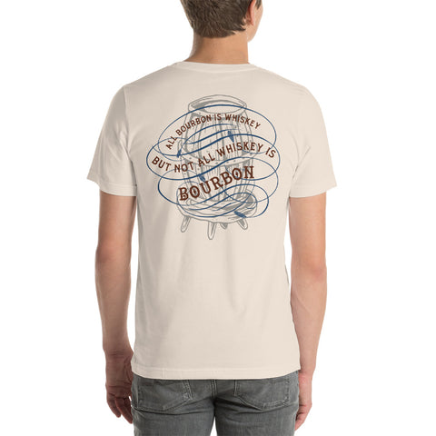 All bourbon is whiskey, but... Short-Sleeve Unisex T-Shirt
