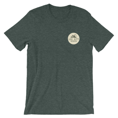 LEXINGTON CITY BREWING CO. Unisex short sleeve t-shirt