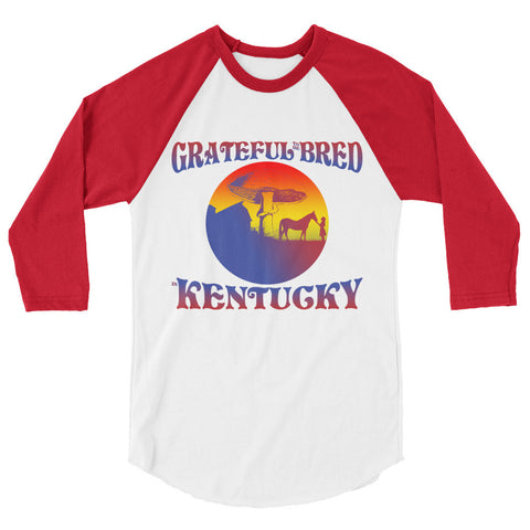 GRATEFUL TO BE BRED 3/4 sleeve raglan shirt