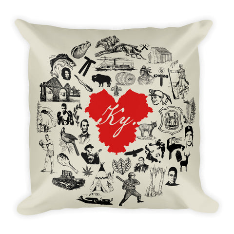 KENTUCKY ICONS Square Pillow