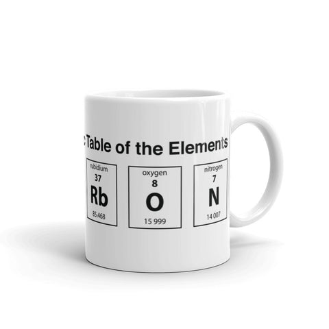 KENTUCKY PERIODIC TABLE OF ELEMENTS (BOURBON) Mug