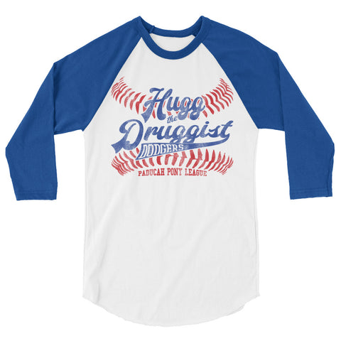 HUGG THE DRUGGIST, PONY LEAGUE, PADUCAH 3/4 sleeve raglan shirt