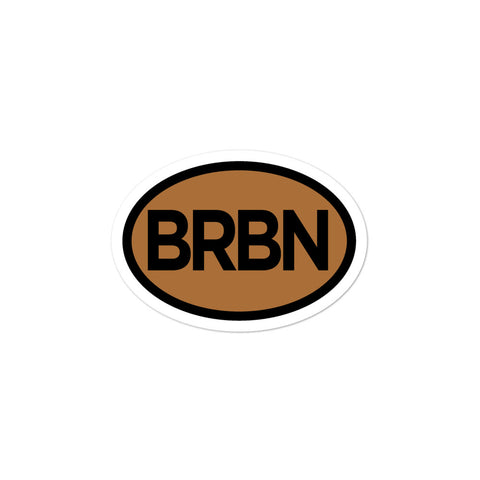 BRBN Bourbon Oval Bubble-free stickers