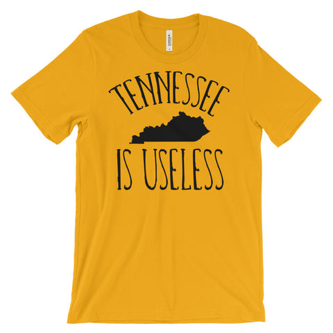 TENNESSEE IS USELESS Unisex short sleeve t-shirt
