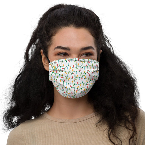 Kentucky Christmas Lights Premium face mask