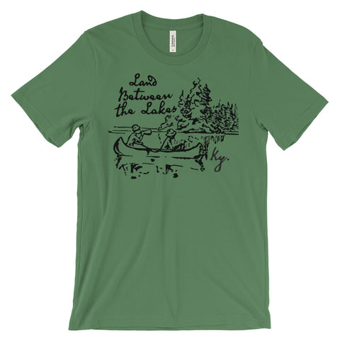 LAND BETWEEN THE LAKES VINTAGE ILLUSTRATION Unisex short sleeve t-shirt
