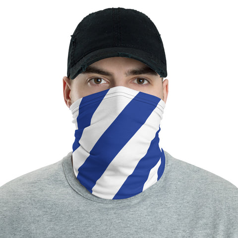 TEAM ANDY Blue and White stripe Neck Gaiter