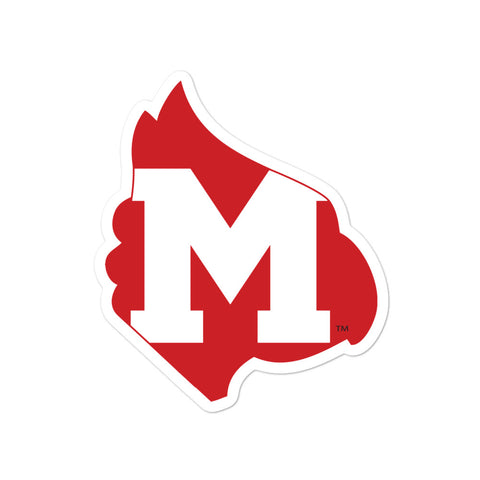 "Mayfield Cardinals ""Big M"" Bubble-free stickers"