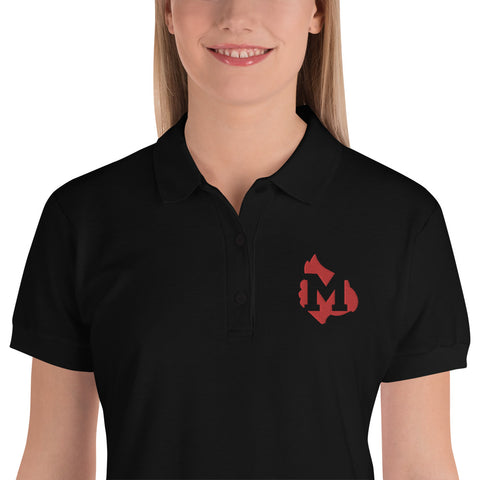 Mayfield Cardinals Embroidered Women's Polo Shirt
