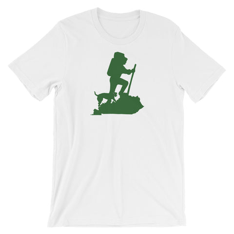HIKER AND DOG Unisex short sleeve t-shirt