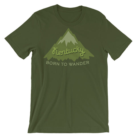 BORN TO WANDER (HIKE) Short-Sleeve Unisex T-Shirt