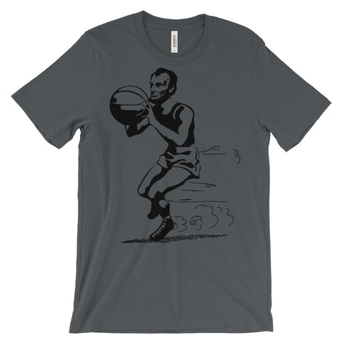Abe Lincoln basketball t-shirt