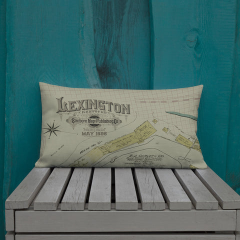 Vintage Lexington Map Premium Pillow