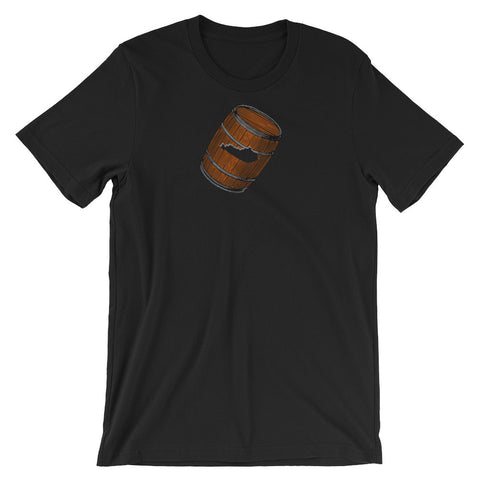 BOURBON BARREL STATE CUTOUT + BOND Unisex short sleeve t-shirt