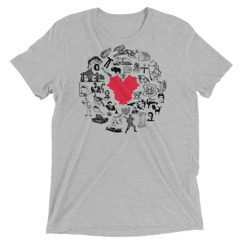 HEART OF AMERICA KENTUCKY ICONS Short sleeve t-shirt