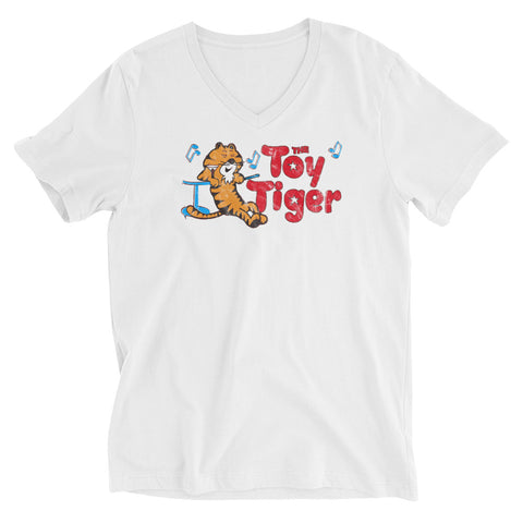 Toy Tiger Unisex Short Sleeve V-Neck T-Shirt