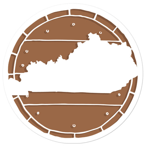 Bourbon Barrel Kentucky State Bubble-free stickers